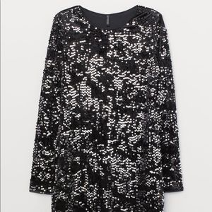 Sequined Velour Dress